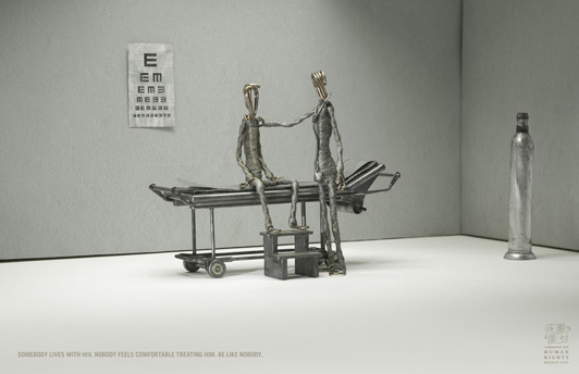 Campagne pour la Commission for human rights Mexico city - Nobody : Doctor - Mars 2008