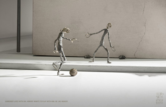 Campagne pour la Commission for human rights Mexico city - Nobody : Playing - Mars 2008